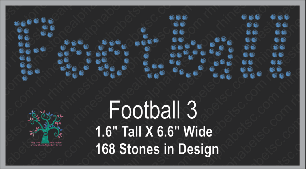 Football Word 3 ,TTF Rhinestone Fonts & Rhinestone Designs