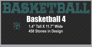 Basketball Word 4 ,TTF Rhinestone Fonts & Rhinestone Designs