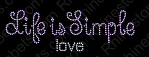 Life is Simple 5 ,TTF Rhinestone Fonts & Rhinestone Designs