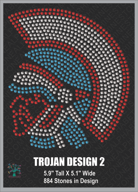 Trojan Design 2 Rhinestone TTF  Alphabets and Rhinestone Designs