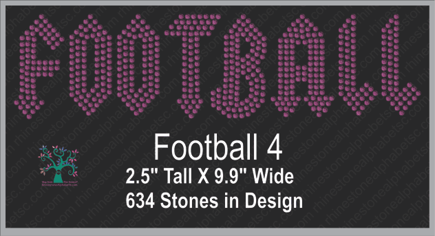 Football Word 4 ,TTF Rhinestone Fonts & Rhinestone Designs