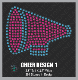 Cheer Design 1 ,TTF Rhinestone Fonts & Rhinestone Designs