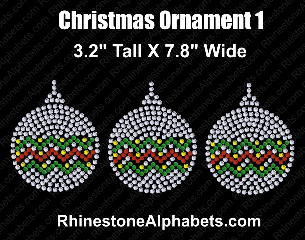 Christmas Ornament 1 ,TTF Rhinestone Fonts & Rhinestone Designs