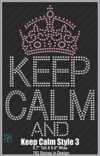 Keep Calm Style 3 ,TTF Rhinestone Fonts & Rhinestone Designs