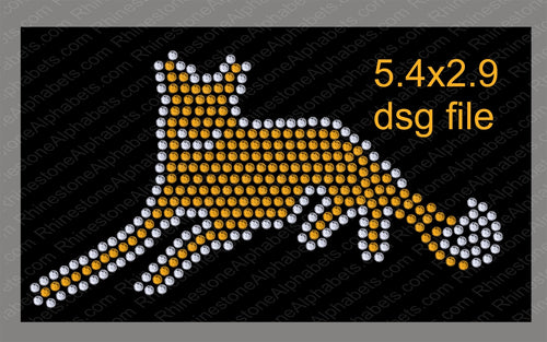 Fox 3 Mascot for .dsg file ,TTF Rhinestone Fonts & Rhinestone Designs