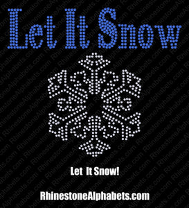 LET IT SNOW ,TTF Rhinestone Fonts & Rhinestone Designs