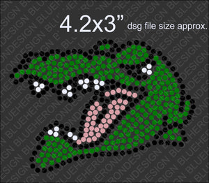 Tiny Crocodile DSG File ,TTF Rhinestone Fonts & Rhinestone Designs