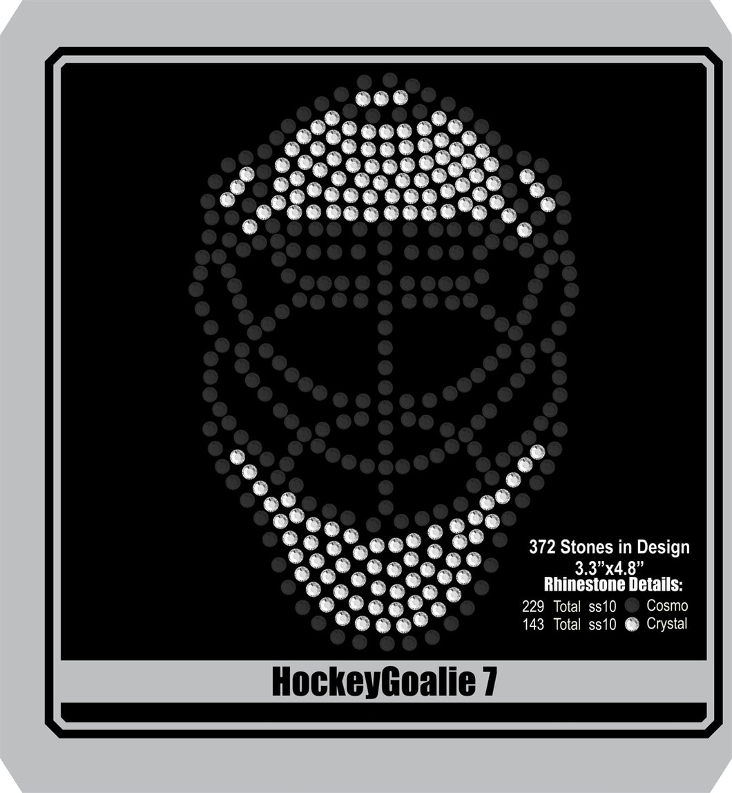 Hockey Goalie 7 ,TTF Rhinestone Fonts & Rhinestone Designs