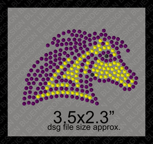 Tiny Mustangs DSG File ,TTF Rhinestone Fonts & Rhinestone Designs