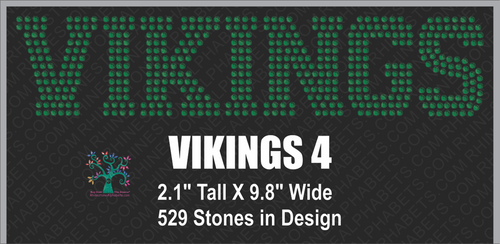 Vikings  Word 4 Rhinestone TTF  Alphabets and Rhinestone Designs