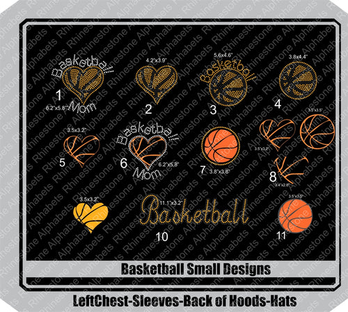 Basketball-Small Combo ,TTF Rhinestone Fonts & Rhinestone Designs