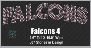 Falcons  Word 4 ,TTF Rhinestone Fonts & Rhinestone Designs