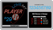 Baseball Love 2 ,TTF Rhinestone Fonts & Rhinestone Designs