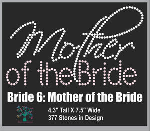 Bride 6: Mother of the Bride ,TTF Rhinestone Fonts & Rhinestone Designs