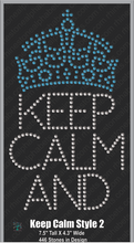 Keep Calm Style 2 ,TTF Rhinestone Fonts & Rhinestone Designs