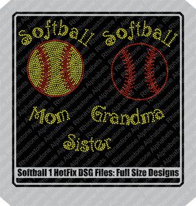 Softball 1 Hotfix DSG File Only! ,TTF Rhinestone Fonts & Rhinestone Designs