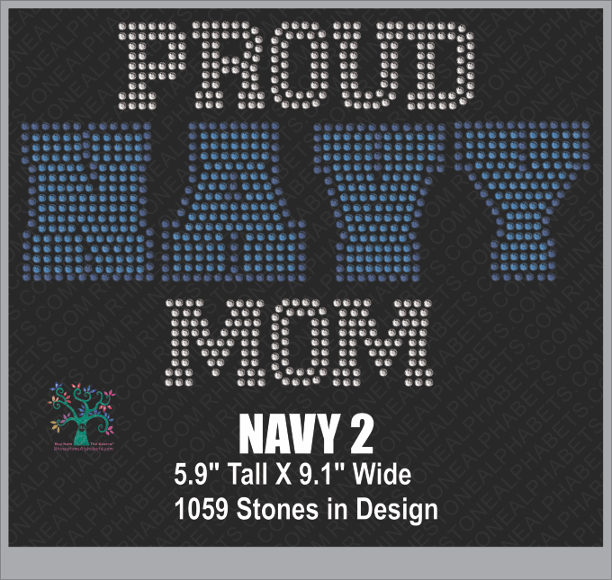 Navy Word2 ,TTF Rhinestone Fonts & Rhinestone Designs