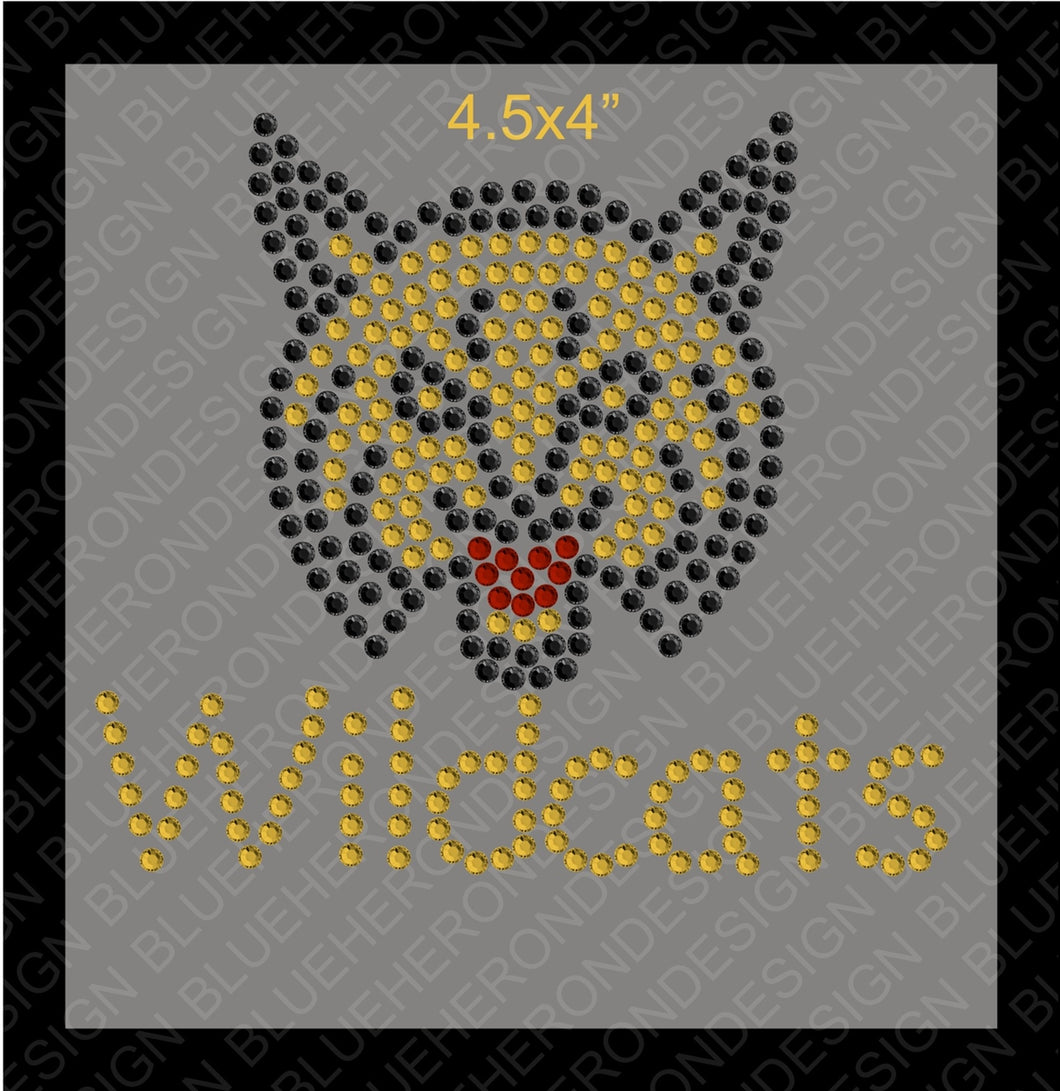Tiny Wildcats2 Rhinestone TTF  Alphabets and Rhinestone Designs