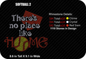 SOFTBALL 2 ,TTF Rhinestone Fonts & Rhinestone Designs