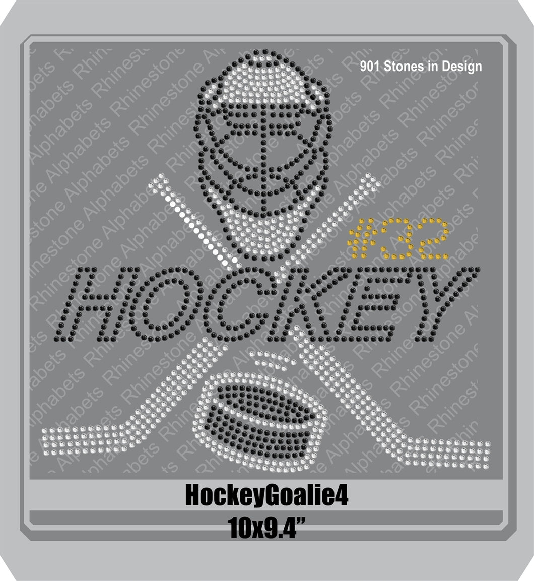 Hockey Goalie 4 ,TTF Rhinestone Fonts & Rhinestone Designs