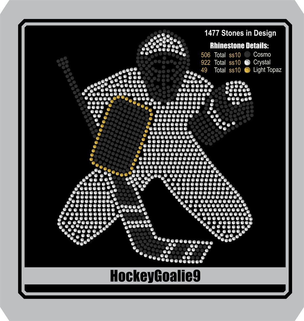 Hockey Goalie 9 ,TTF Rhinestone Fonts & Rhinestone Designs