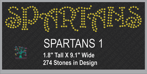 Spartans Word 1 ,TTF Rhinestone Fonts & Rhinestone Designs