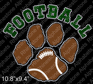 Football 1-18  Rhinestone And Vinyl design File, eps and svg.  Rhinestone TTF  Alphabets and Rhinestone Designs