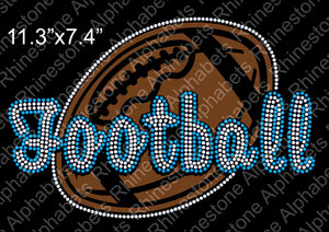 Football Pack Designs 1-10 2018 - Rhinestone TTF  Alphabets and Rhinestone Designs