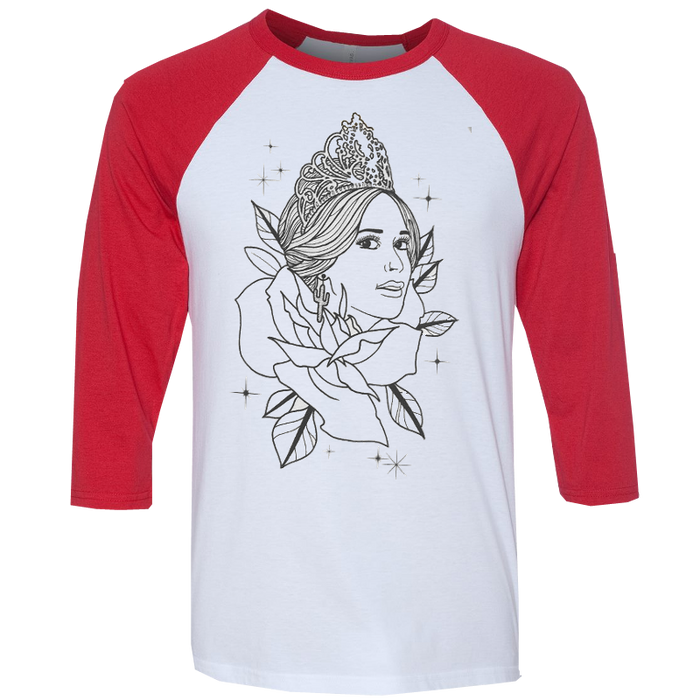 RED PAGEANT BASEBALL TEE
