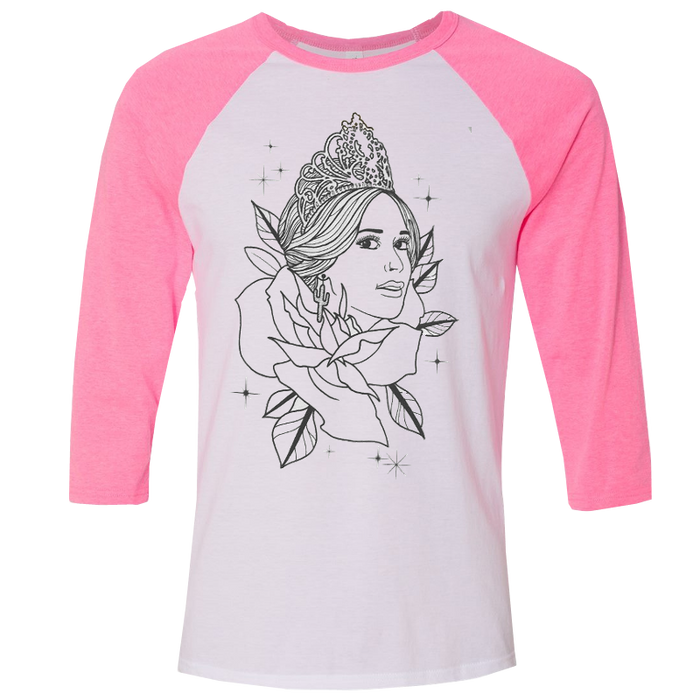 PINK PAGEANT BASEBALL TEE
