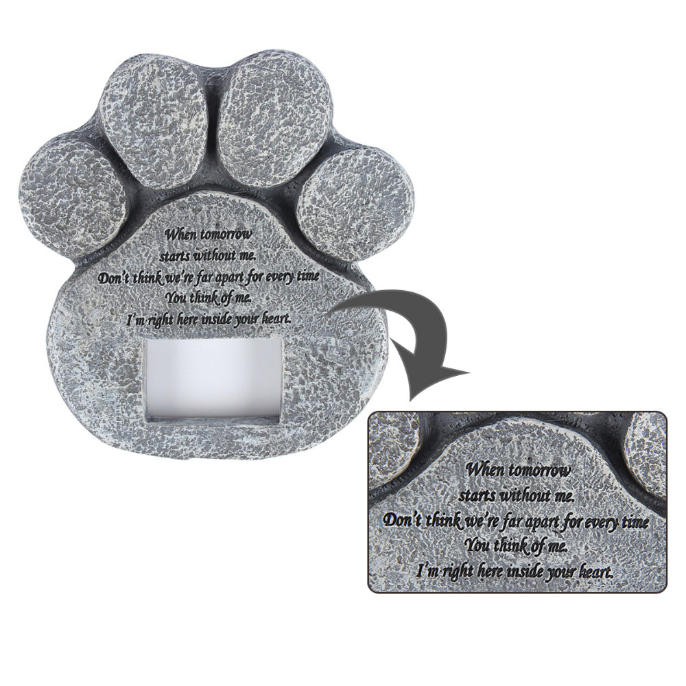 Dog Or Cat Memorial Stone & Photo Frame (Remember Your Pet ...