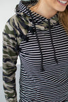 Camo and Stripes Hoodie | Nursing Option Available