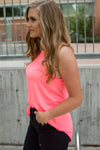 Rocker Tank | Neon Pink and Leopard