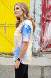In your Dreams V-Neck Tee | Tie Dye at Dusk