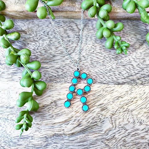 READY TO SHIP * Turquoise Initial Letter Necklace