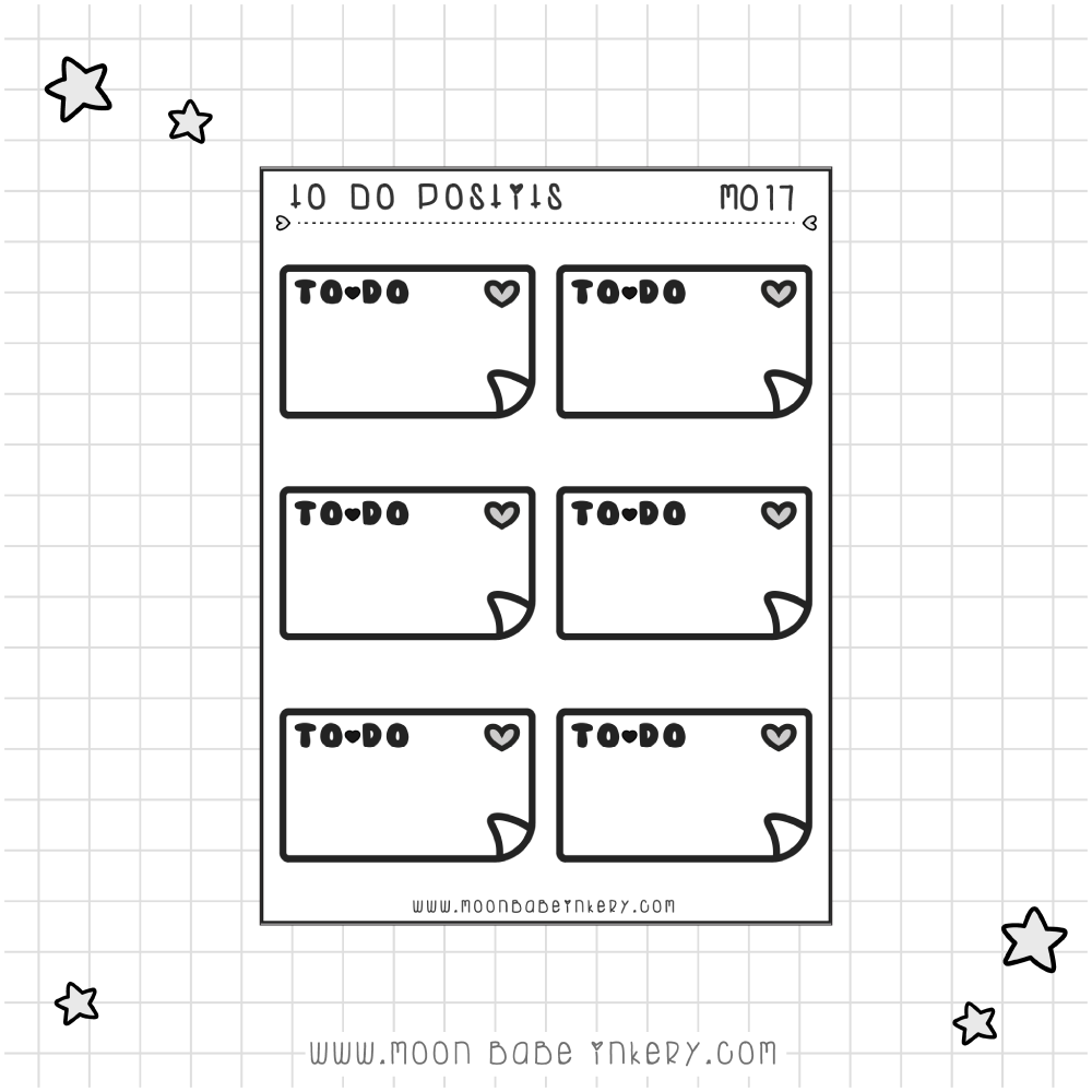 TO DO POST-IT NOTES - M017