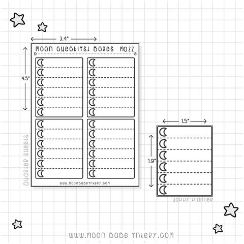 MOON CHECKLIST BOXES - M022