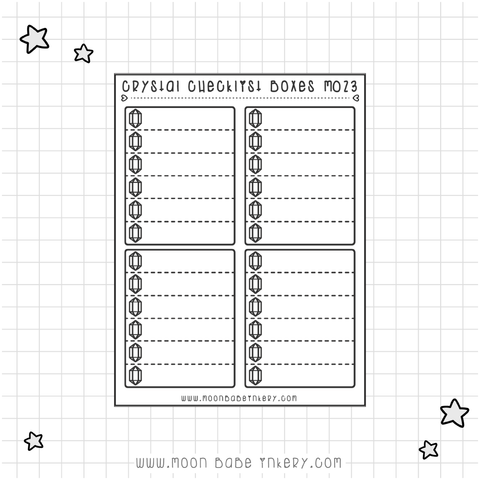 CRYSTALS CHECKLIST BOXES - M023