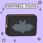 CREEPY BAT - PRINTABLE POUCH (PP01)