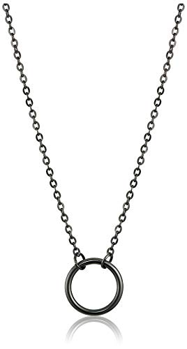 Dainty Circle Necklace (Black)