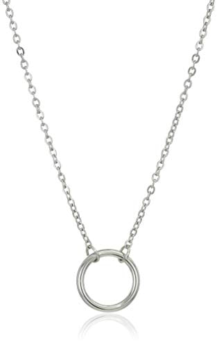 Dainty Circle Necklace (Silver)
