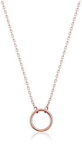 Dainty Circle Necklace (Rose Gold)