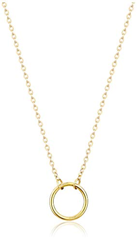 Dainty Circle Necklace (Gold)