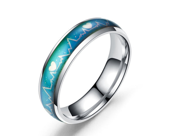 Color Changing Heartbeat Mood Ring (Silver) - Ello Elli Online Store