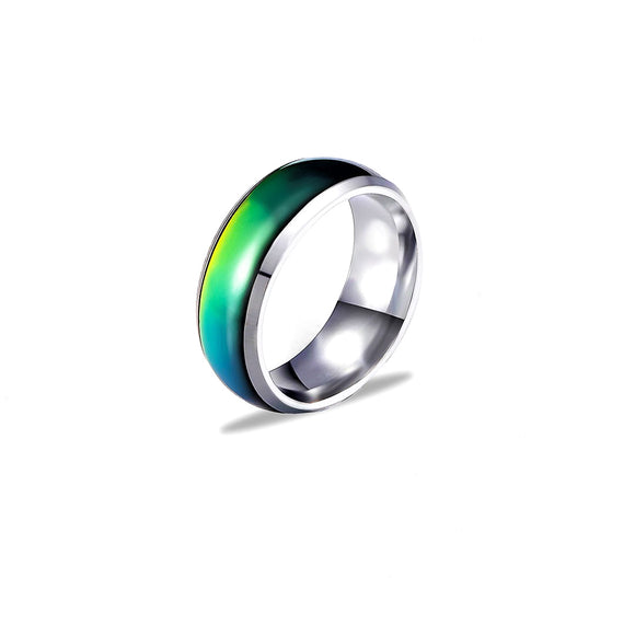 Color Changing Mens Mood Ring (Silver) - Ello Elli Online Store