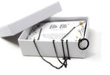 Dainty Circle Necklace (Black) - Ello Elli Online Store