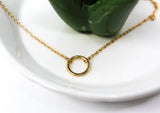 Dainty Circle Necklace (Gold) - Ello Elli Online Store