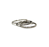 Hammered Trio Stainless-Steel Rings