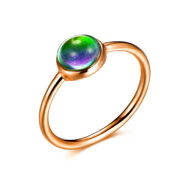 Minimalist/Dainty Stainless-Steel Mood Ring (Rose Gold) - Ello Elli Online Store