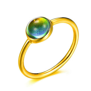 Minimalist/Dainty Stainless-Steel Mood Ring (Gold) - Ello Elli Online Store